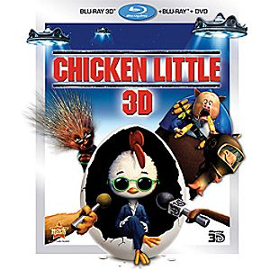 Chicken Little 3-Disc Blu-ray, 3D Blu-ray and DVD
