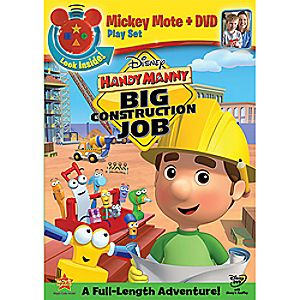 Disney Handy Manny: Big Construction Job with Mickey Mote Toy DVD