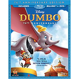 Dumbo Seventieth Anniversary Edition 2-Disc Blu-ray and DVD