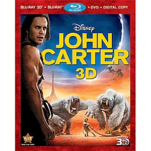 John Carter 4-Disc Blu-ray, Blu-ray 3D, DVD and Digital File