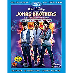 Jonas Brothers: the Concert Experience Extended 3-Disc Blu-ray, DVD and Digital File