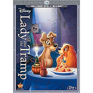 Lady and the Tramp 2-Disc Blu-ray and DVD Diamond Edition