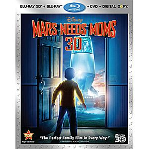 Mars Needs Moms 4-Disc Blu-ray, Blu-ray 3D, DVD and Digital File