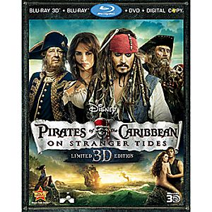 Pirates of the Caribbean: On Stranger Tides 5-Disc Blu-ray, Blu-ray 3D, DVD and Digital File