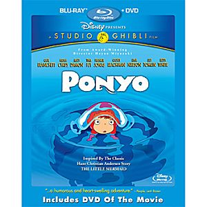 Ponyo 2-Disc Blu-ray and DVD
