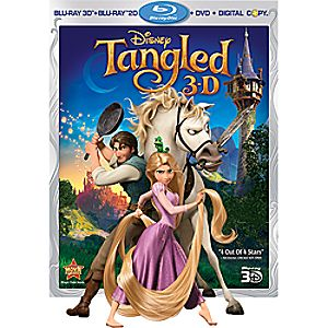 Tangled 4-Disc Blu-ray, Blu-ray 3D, DVD and Digital File
