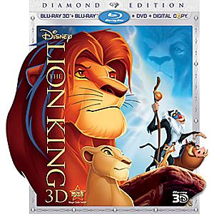 The Lion King 4-Disc Blu-ray, 3D Blu-ray, DVD and Digital File