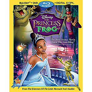 The Princess and the Frog 3-Disc Blu-ray, DVD and Digital File