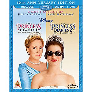 The Princess Diaries 10th Anniversary Edition 2-Movie Collection 3-Disc Blu-ray and DVD