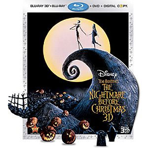 Tim Burtons The Nightmare Before Christmas 3-Disc Blu-ray, 3D Blu-ray, DVD and Digital File
