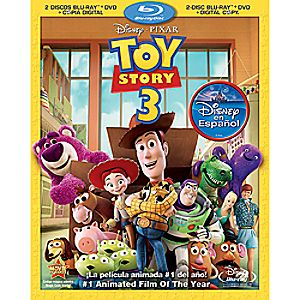 Toy Story 3 Spanish 4-Disc Blu-ray, DVD and Digital File