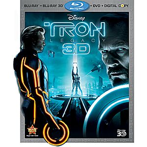 Tron: Legacy 4-Disc Blu-ray 3D, Blu-ray, DVD and Digital File
