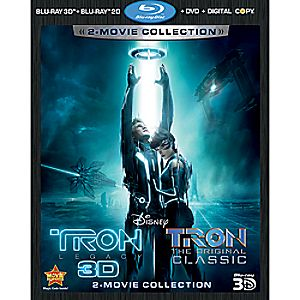 Tron and Tron: Legacy 5-Disc Blu-ray 3D, Blu-ray, DVD and Digital File