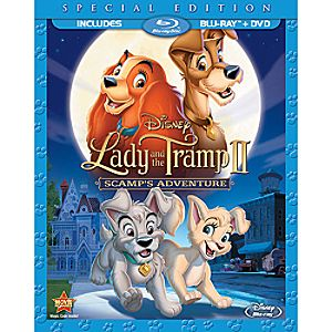 Lady and the Tramp II: Scamps Adventure Blu-ray and DVD (in Blu-ray Amaray case)