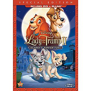 Lady and the Tramp II: Scamps Adventure Blu-ray and DVD (in DVD Amaray case)