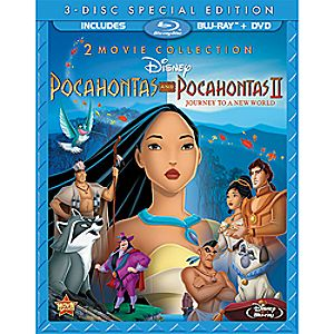 Pocahontas and Pocahontas II Blu-ray and DVD 3-Disc Special Edition (in Blu-ray Amaray case)