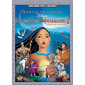 Pocahontas and Pocahontas II Blu-ray and DVD 3-Disc Special Edition (in DVD Amaray case)