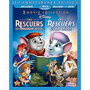 The Rescuers and The Rescuers Down Under Blu-ray and DVD 3-Disc 35th Anniversary Edition (in Blu-ray Amaray case)