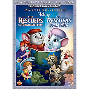 The Rescuers and The Rescuers Down Under Blu-ray and DVD 3-Disc 35th Anniversary Edition (in DVD Amaray case)
