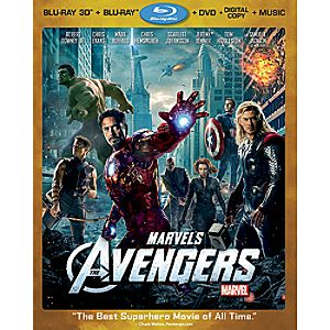 Marvels The Avengers 3-D Blu-ray Combo Pack - 4-Disc