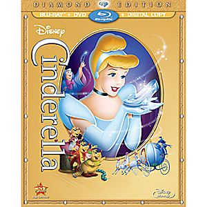 Cinderella Blu-ray and DVD + Digitial Copy Combo Pack - Diamond Edition