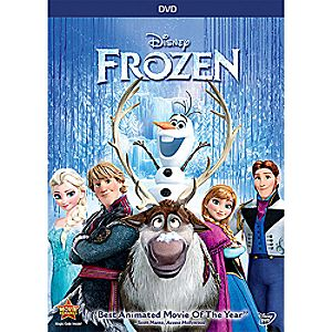 Frozen DVD Elsa Anna and Olaf