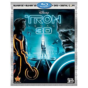 4-Disc TRON: Legacy Blu-ray and DVD Combo Pack (2-Disc Blu-ray + 3-D Blu-ray + DVD + DisneyFile*)