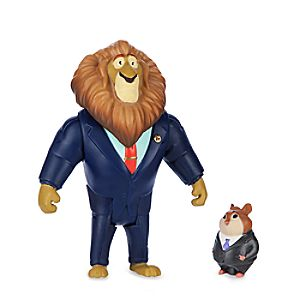 Mayor Lionheart & Lemming Businessman Figure Set - Zootopia