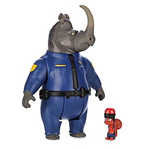 Officer McHorn & Safety Squirrel Figure Set - Zootopia