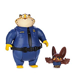 Clawhauser & Bat Eyewitness Figure Set - Zootopia