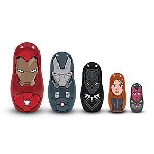 Iron Man Team Nesting Dolls - Captain America: Civil War