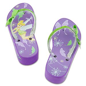 Platform Tinker Bell Flip Flops for Girls