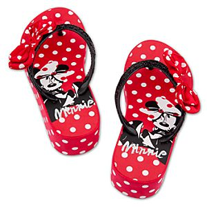 Platform Minnie Mouse Flip Flops for Girls