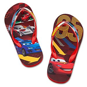 Cars 2 Lightning McQueen Flip Flops for Boys