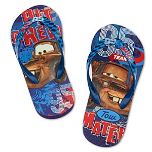 Cars 2 Tow Mater Flip Flops for Boys