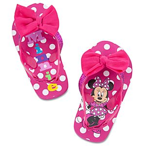 Minnie Mouse Flip Flops for Toddler Girls