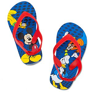 Mickey Mouse Flip Flops for Toddler Boys