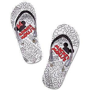 Logo Minnie and Mickey Mouse Flip Flops for Girls