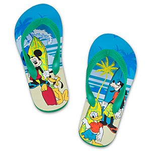 Summer Brights Mickey Mouse Flip Flops for Boys