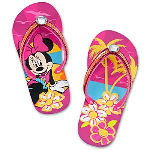 Summer Brights Minnie Mouse Flip Flops for Girls