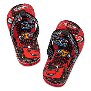 Lightning McQueen Flip Flops for Boys
