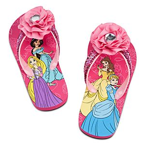 Disney Princess Flip Flops for Girls
