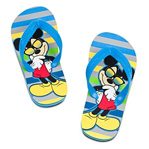 Mickey Mouse Flip Flops for Boys