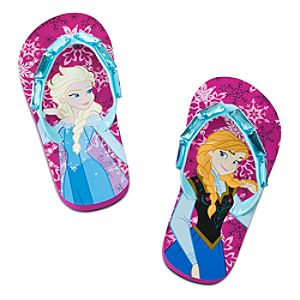 Anna and Elsa Flip Flops for Girls - Frozen
