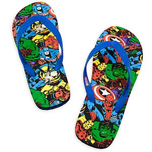Marvel Universe Flip Flops for Men