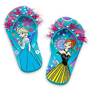 Anna and Elsa Flip Flops for Girls