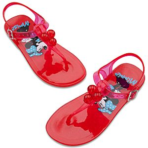 Minnie Mouse Sandals for Girls -- Red