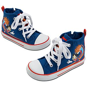High-Top Mickey Mouse Sneakers for Boys