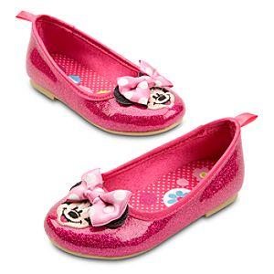 Ballet Flat Minnie Mouse Shoes for Girls