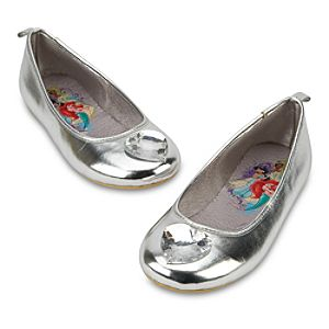 Silver Ballet Flat Disney Princess Shoes for Girls